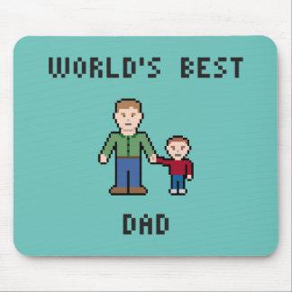 Pixel Best Dad Mousepad