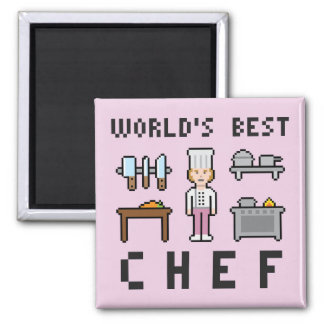 Pixel Best Female Chef Magnet