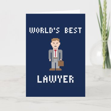 Pixel Best Lawyer Greeting Card