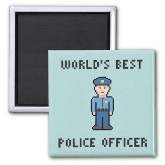 Pixel Best Police Officer Magnet