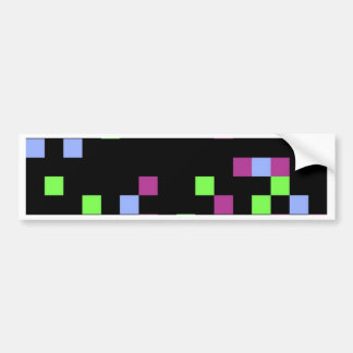 pixel black bumper sticker