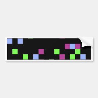 pixel black bumper sticker