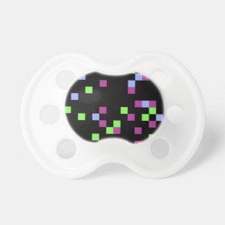 pixel black baby pacifiers