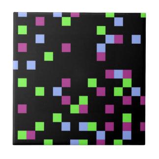 pixel black tiles
