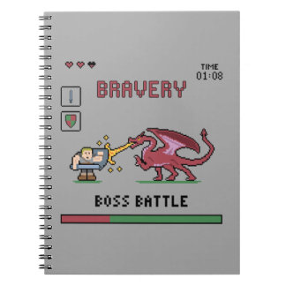 Pixel Boss Batte Notebook