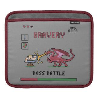 Pixel Boss Battle iPad Horizontal Sleeve iPad Sleeve