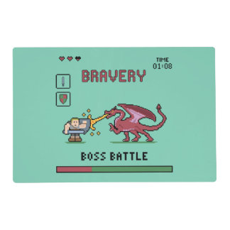 Pixel Boss Battle Placemat