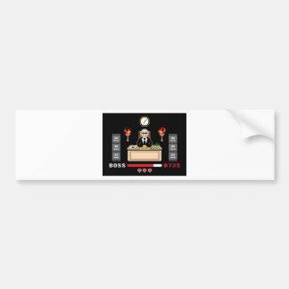 Pixel Boss Design - GeekShirts Bumper Stickers