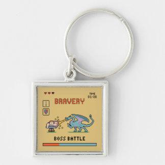 Pixel Bravery Keychain