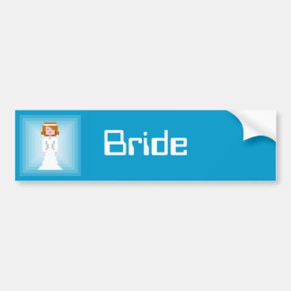 Pixel Bride 2 Bumper Sticker