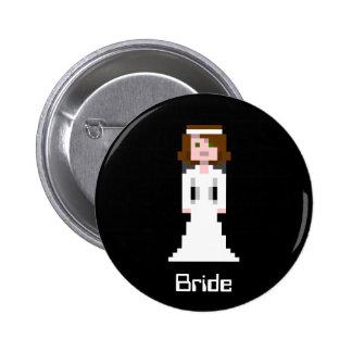 Pixel Bride - Brunette Button