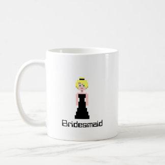 Pixel Bridesmaid - Black Classic White Coffee Mug