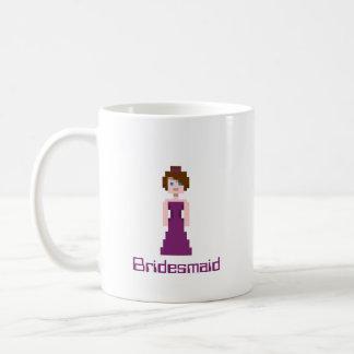 Pixel Bridesmaid - Plum Classic White Coffee Mug