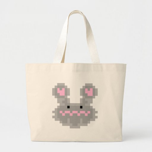 Pixel Bunny Rabbit Jumbo Tote Bag