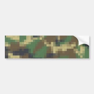 Pixel Camouflage Bumper Sticker