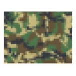 Pixel Camouflage Post Cards