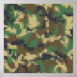 Pixel Camouflage Print