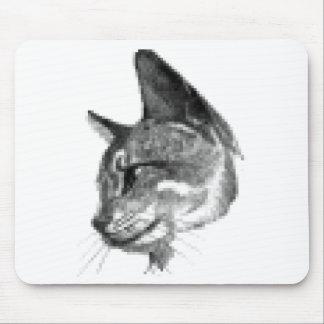 PIXEL CAT PORTRAIT MOUSE PAD