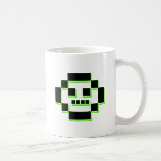 Pixel character coffee mug