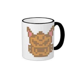 Pixel Chihuahua Dog Ringer Coffee Mug