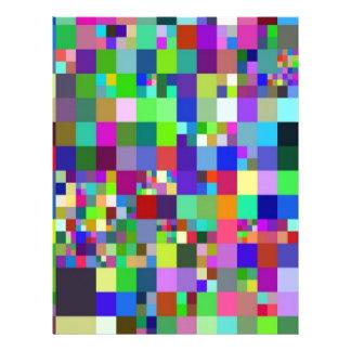 Pixel, colorful letterhead design