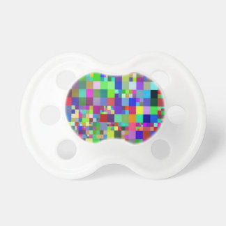 Pixel, colorful baby pacifiers
