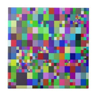 Pixel, colorful ceramic tiles