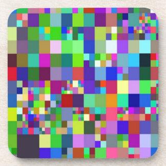 Pixel colorido posavasos de bebidas