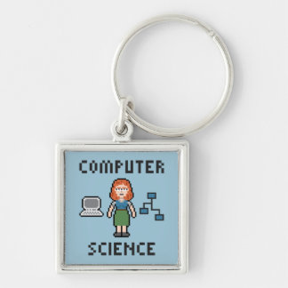 Pixel Computer Science - Female - Keychain