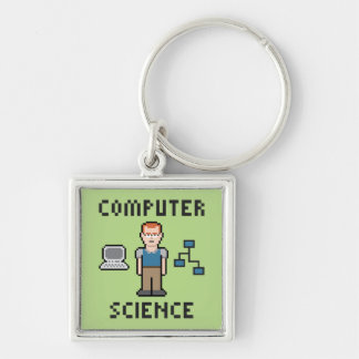 Pixel Computer Science Keychain