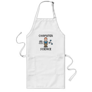Pixel Computer Science Long Apron