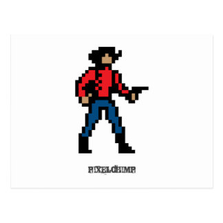 Pixel Cowboy Colour Postcard