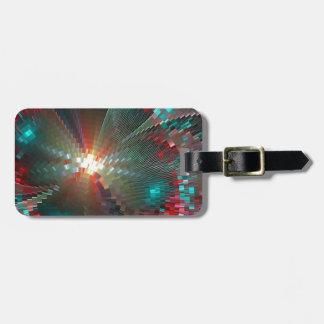 pixel crash luggage tag