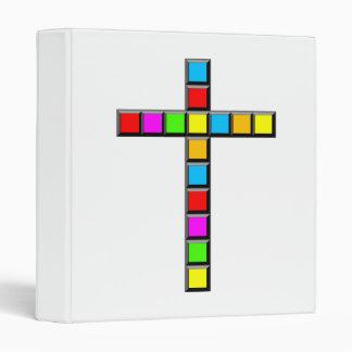 Pixel Cross 3 Ring Binder