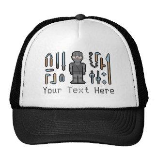 Pixel de encargo Ninja del texto Gorro
