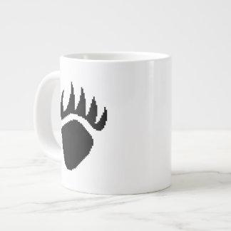 Pixel de la garra de oso negro taza grande