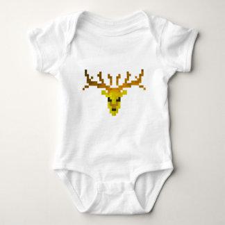 Pixel Deer Baby Bodysuit