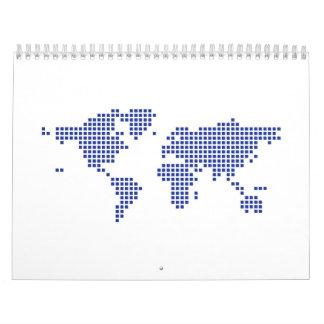 Pixel del mapa del mundo calendarios