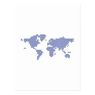 Pixel del mapa del mundo tarjeta postal
