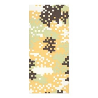 Pixel Desert Camouflage Rack Card