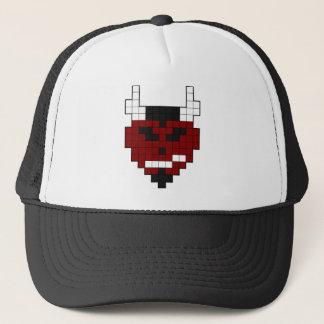 pixel devil trucker hat