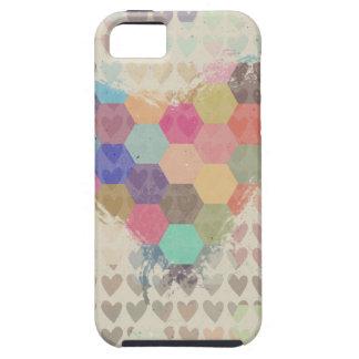 Pixel Digital Rainbow Heart iPhone SE/5/5s Case