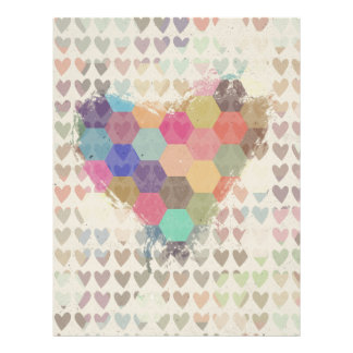 Pixel Digital Rainbow Heart Letterhead