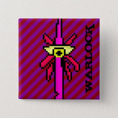 Pixel DnD Class Warlock Button