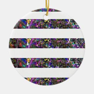 Pixel Dust Ceramic Ornament