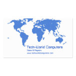 Pixel Earth Double-Sided Standard Business Cards (Pack Of 100)