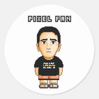 Pixel-Fan Round Stickers