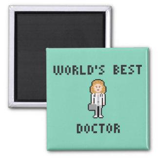Pixel Female Doctor Magnet