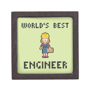 Pixel Female Engineer Jewelry Box