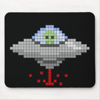 Pixel Flying Saucer Mousepad